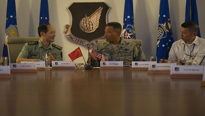 Information Exchange - ranking military officals from different countries speaking to each other
