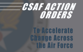 CSAF Action Orders with CSAF logo in background